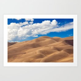 Lost in the Sand Dunes Art Print