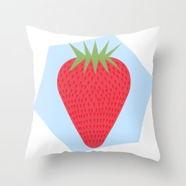 Strawberry Background Throw Pillow