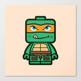 Chibi Michelangelo Ninja Turtle Canvas Print