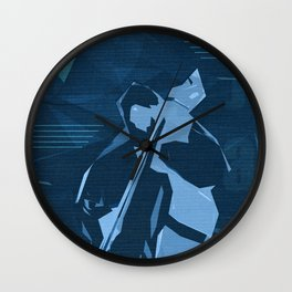 Jazz Contrabass Poster Wall Clock