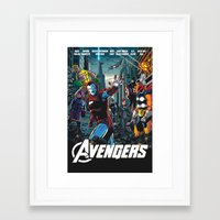 80s Framed Art Prints featuring The 80s by thechrishaley
