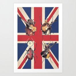 Meet the Beetles (Union Jack Option) Art Print