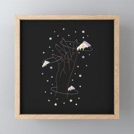 Lost One - Space Pizza Illustration Framed Mini Art Print