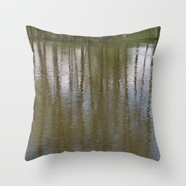 Stream-Side Impression Throw Pillow