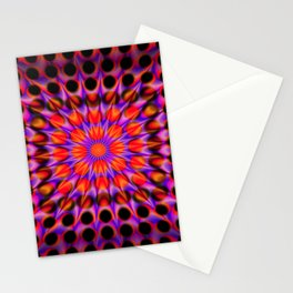 Warp Flow #1 Psychedelic Optical Illusion Trippy Moving Zooming Design Stationery Cards
