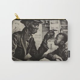 Classical Masterpiece 'The Instruction' by Thomas Hart Benton Carry-All Pouch