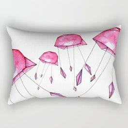 Geometric jellyfish Rectangular Pillow