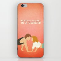 dirty dancing iPhone & iPod Skins featuring Dirty Dancing (80's Minimalism Series) by Trevor Downs