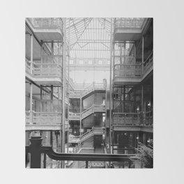 Bradbury Building, Downtown Los Angeles Throw Blanket