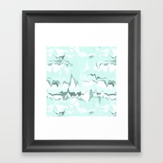 Marbled in mint Framed Art Print
