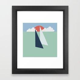 Regatta pastel Framed Art Print