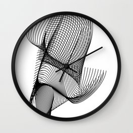 """""""Script Collection"""" - Minimal Letter R Print Wall Clock"""