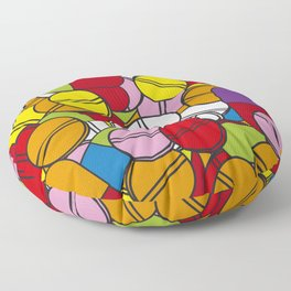 Colorful Pills Modern Medical Graphic Art Illustration Floor Pillow