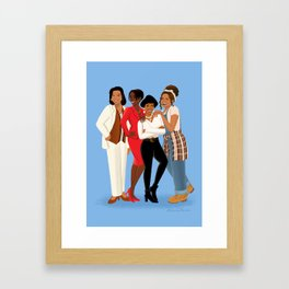 Living Single / Khadijah, Max, Regine & Synclaire Framed Art Print