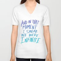 infinite V-neck T-shirts featuring Infinite by Leah Flores