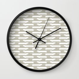 White Wiener Wall Clock