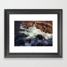 swirling current Framed Art Print