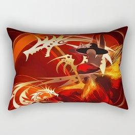 Tänzerin mit Drachen Rectangular Pillow