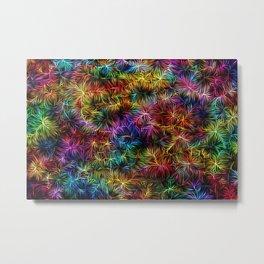 Rainbow Weaving Metal Print