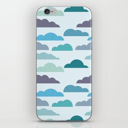 Rainy autumn seamless pattern with clouds iPhone Skin