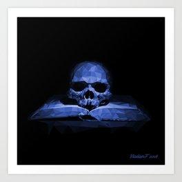 Memento mori - abyss blue Art Print