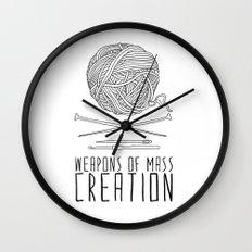 Weapons Of Mass Creation - Knitting Wall Clock