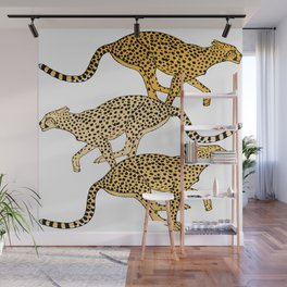 Go Cheetahs Go Pen and Ink by Lorloves Design Wall Mural