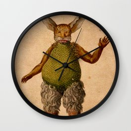 Devil-Rabbit Wall Clock