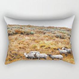 Shepherd or the Sheep Rectangular Pillow