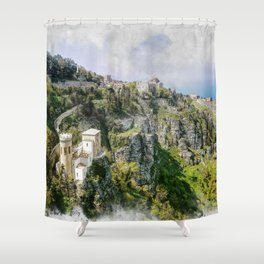 Erice art 2 Shower Curtain