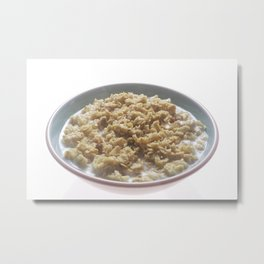 Bowl of Oatmeal  Metal Print
