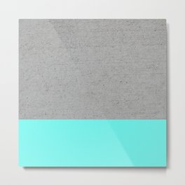 Concrete / turquoise Metal Print