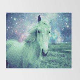 Celestial Dreams Horse Throw Blanket