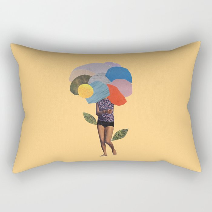 i dream of you amid the flowers Rectangular Pillow
