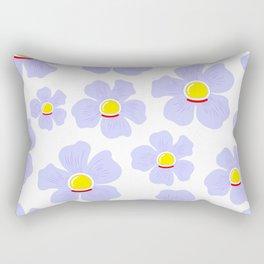 Space Odyssey | Astronaut Flower | Space Flower | Purple Flower | pulps of wood Rectangular Pillow