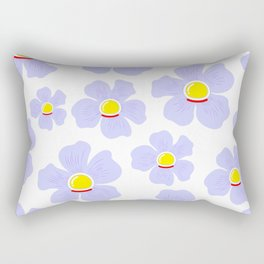 Space Odyssey | Astronaut Flower | Space Flower | Purple Flower | pulps of wood Rectangular Pillow
