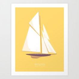 Historic Racing Yacht Art Print