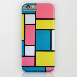 Mondrian in Motion iPhone Case