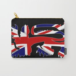 British Lion Silhouette On Union Jack Flag Carry-All Pouch