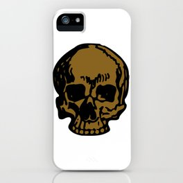 Brown Pirate Skull, Vibrant Skull, Super Smooth Super Sharp 9000px x 11250px PNG iPhone Case