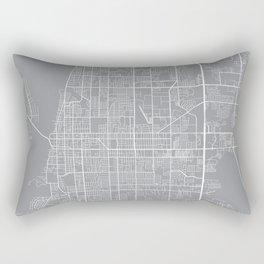 Clearwater Map, Florida USA - Pewter Rectangular Pillow
