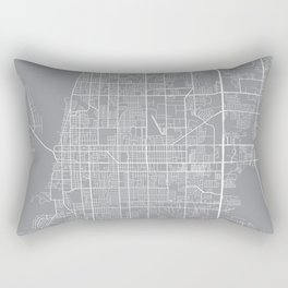 Clearwater Map, Florida USA - Pewter Rectangular Pillow
