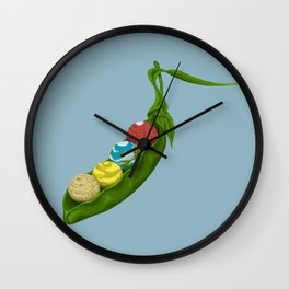 World Peas Wall Clock