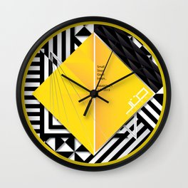 Original Yellow Promo 2 Wall Clock