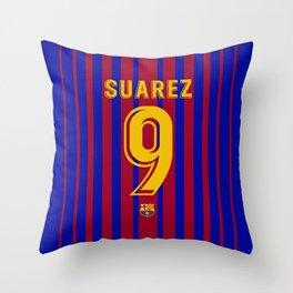 Suarez Edition - Barcelona Home 2017/18 Throw Pillow