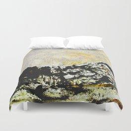Golden mountains Duvet Cover