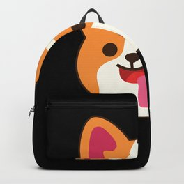 Corgi Puppy Funny Smiling Fan graphic and Gift graphic Backpack