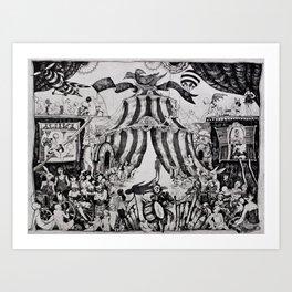 Circus of life II Art Print