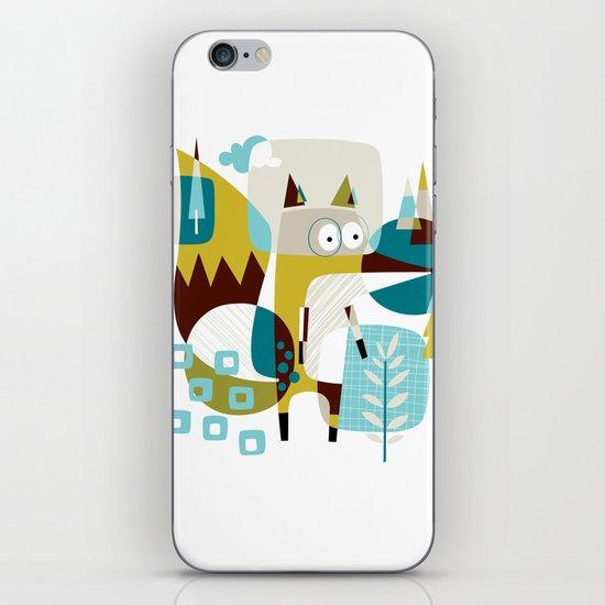 Fox in a box iPhone & iPod Skin