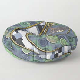 Face of Earth Floor Pillow
